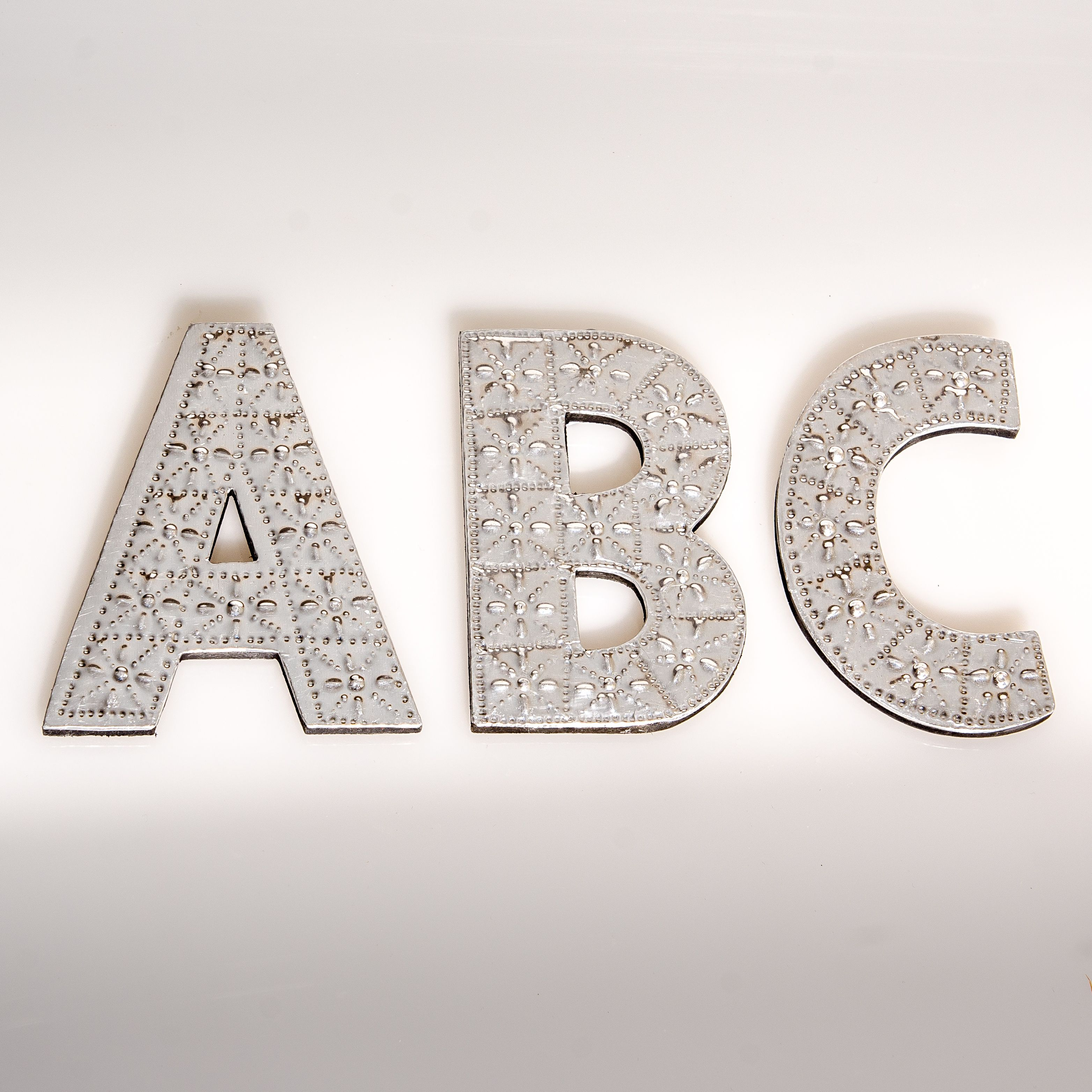 Small Metal Initials Small Wall Hanging Metal Pressed Letters  Letters  Pinterest