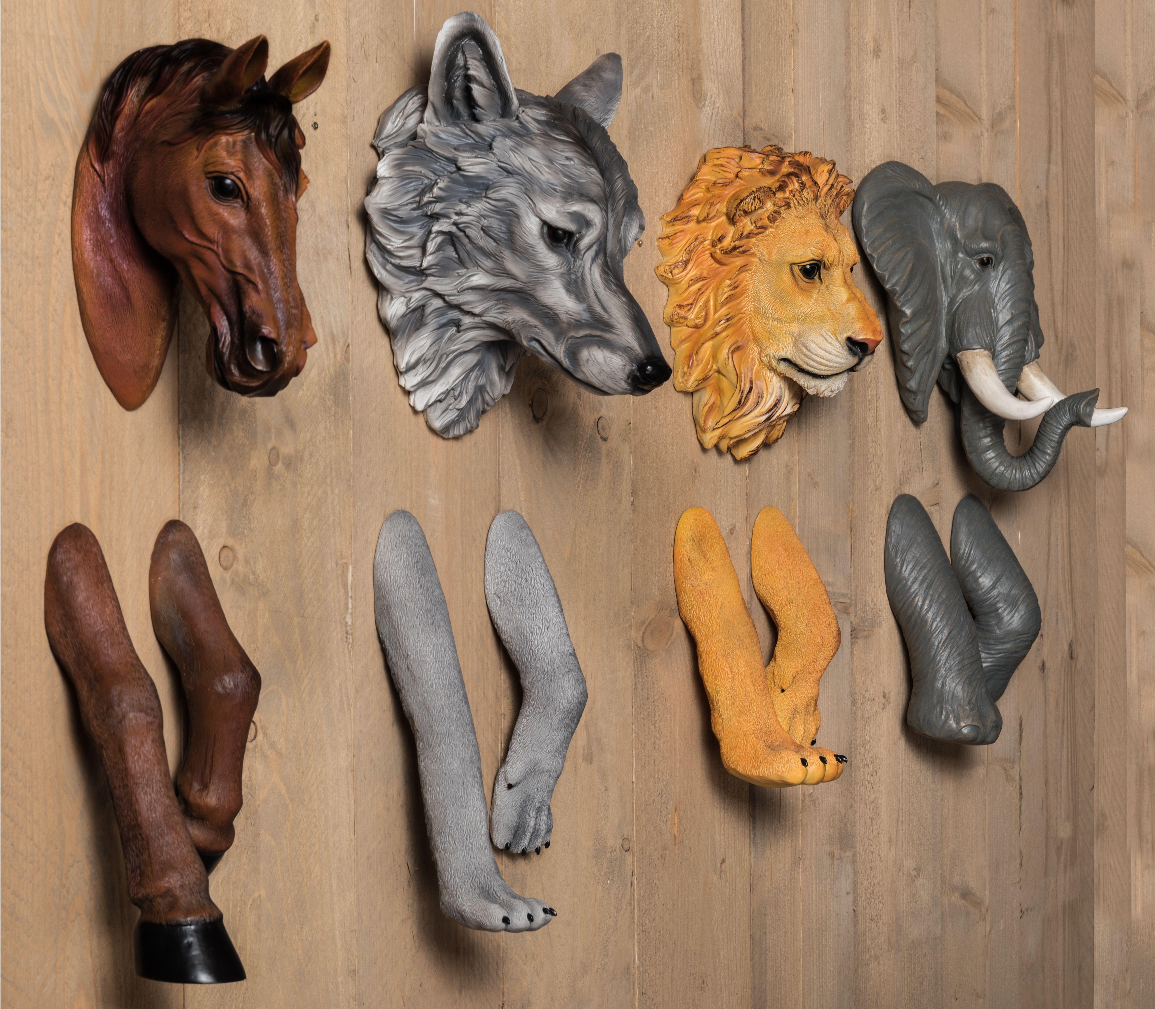 dierenkoppen 3d wanddecoratie kinderkamer cadeau voor