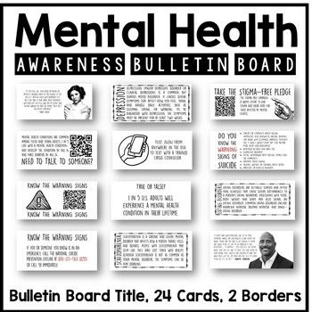 Mental Health Awareness Interactive Bulletin Board is part of Health awareness, Mental health awareness, Health, Health tips, Awareness, Coconut health benefits - Mental Health Awareness Interactive Bulletin BoardThis resource is appropriate for Health, Psychology, and Social Studies classrooms  Counselors, school nurses, school librarians, or other staff may also find this resource useful as part of a mental health awareness display  The purpose of this res