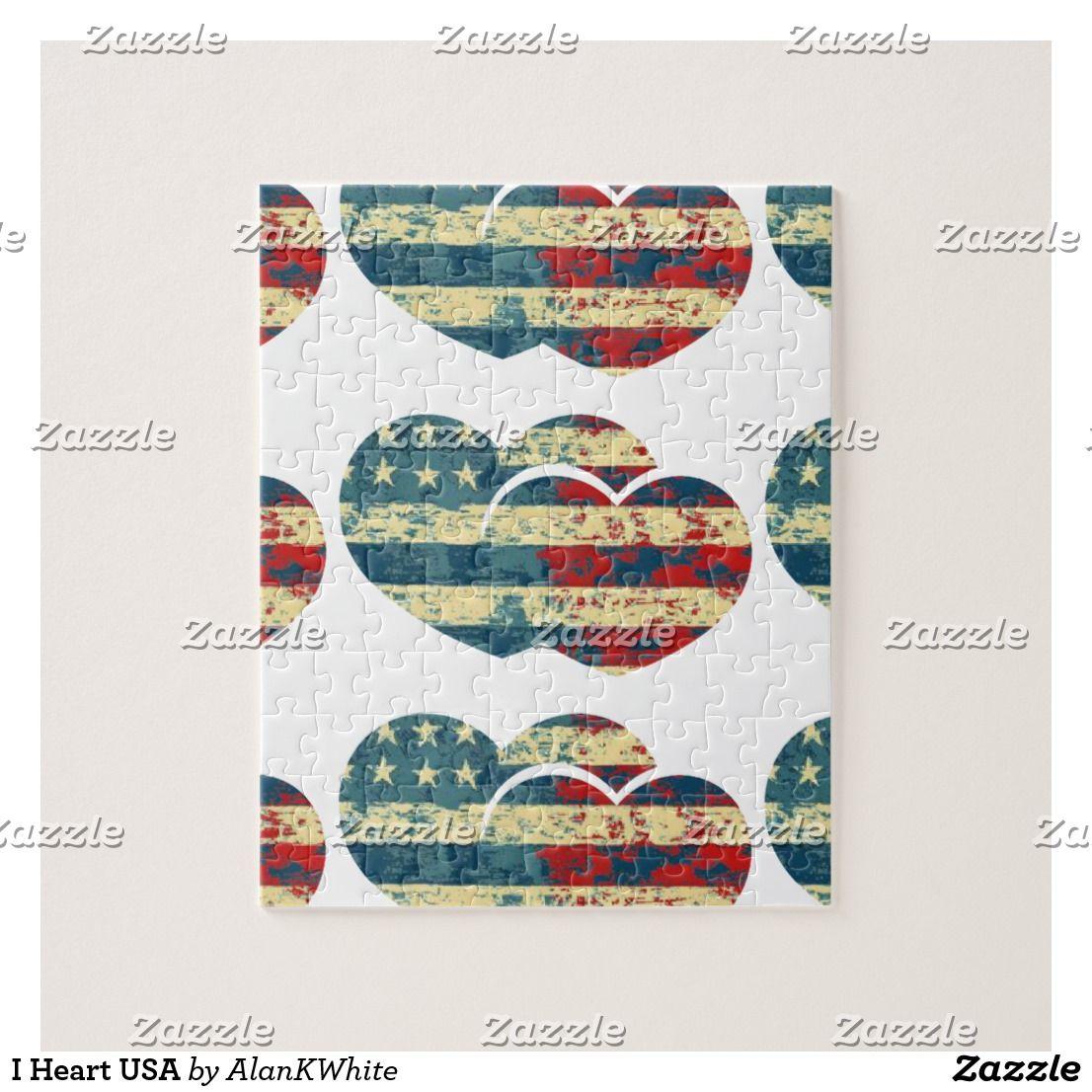 I Heart USA Jigsaw Puzzle Jigsaw puzzles