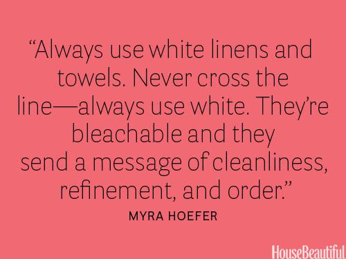 """35 Decorating Secrets from Top Interior Designers...these really are good. had me at """"use white"""""""