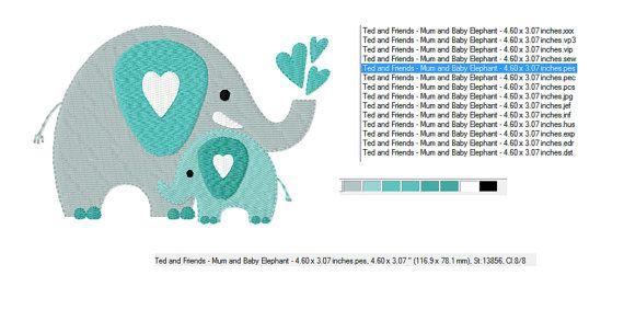 Amour maternel éléphants mère et le bébé par TedandFriends