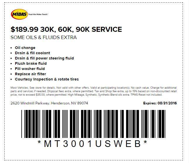Midas Brake Coupons >> Midas Auto Maintenance Coupons Offers Car Repair