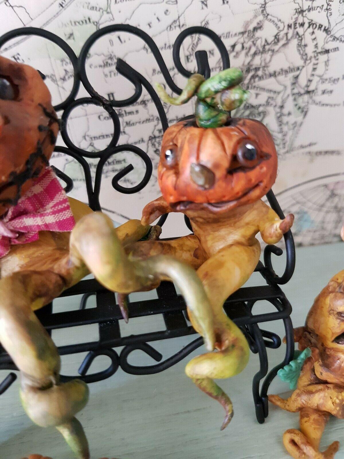 Artisan Dolls House Polymer Clay magic pumpkin garden Ooak Figure 1:12th Puppenstuben & -häuser