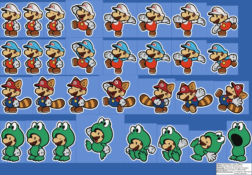 Paper Mario Color Splash Mario Transformations Paper Mario Color Splash Paper Mario Color Splash
