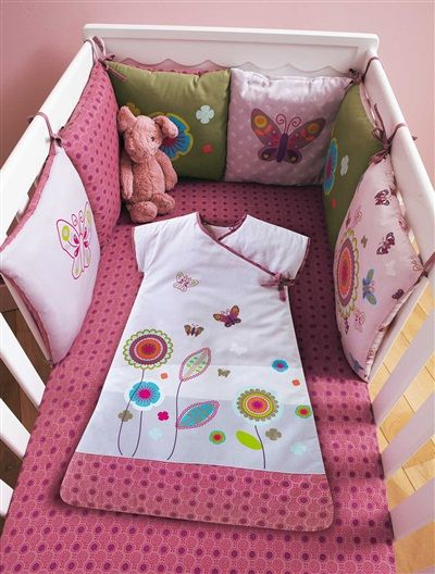 tour de lit bébé modulable graphic flor Tour de lit bébé modulable Graphic flor MULTICOLORE   vertbaudet  tour de lit bébé modulable graphic flor