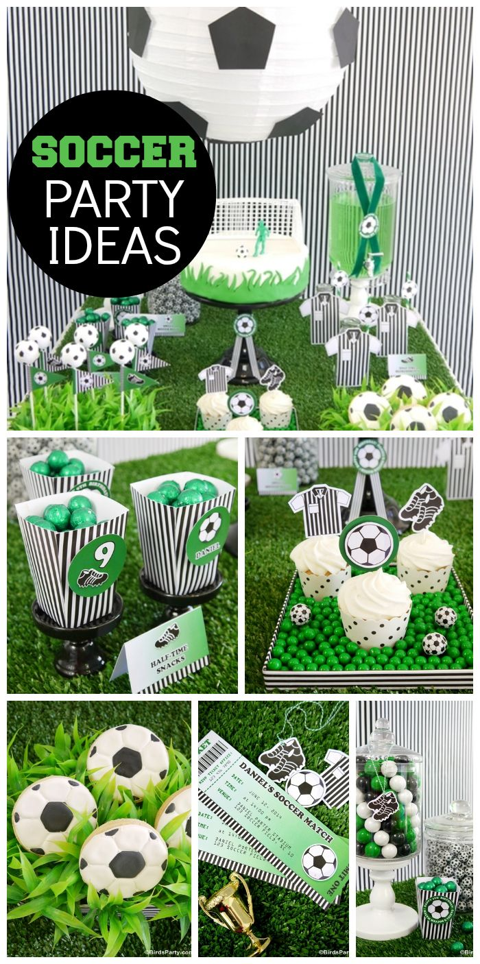Soccer Football Futbol Birthday World Cup Inspired Soccer Party Catch My Party Soccer Birthday Parties Soccer Theme Parties Soccer Party