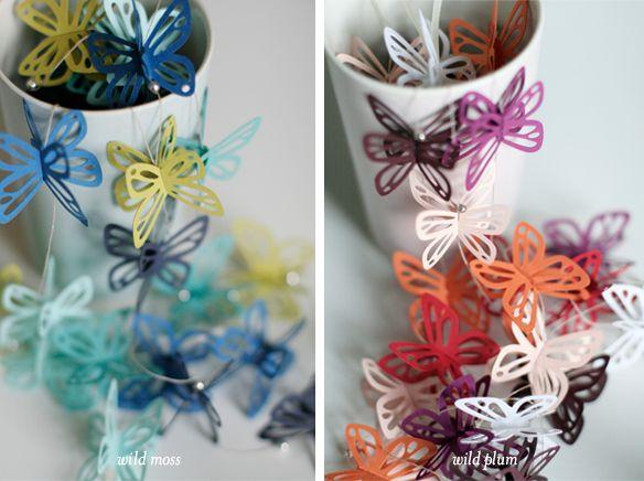 butterfly garlands