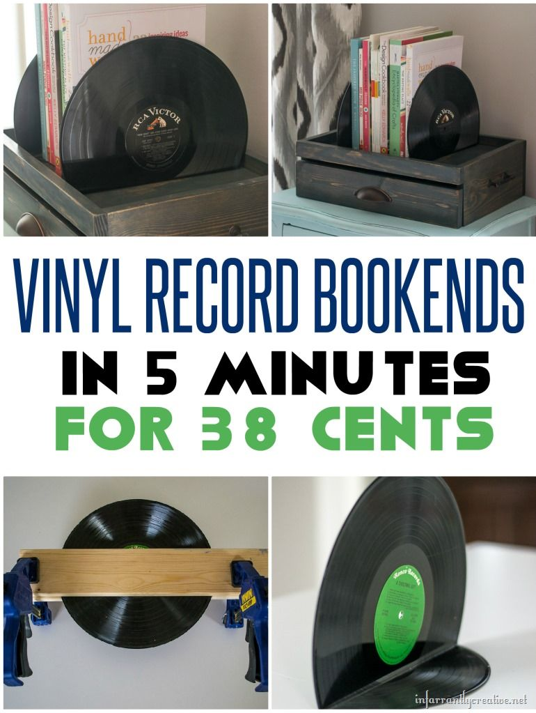 38 Cents And Only 5 Minute Vinyl Record Bookends Vinyl Record