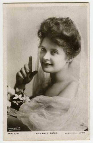 c-1906-British-Theater-Beauty-BILLIE-BURKE-Edwardian-Fashion-photo-postcard