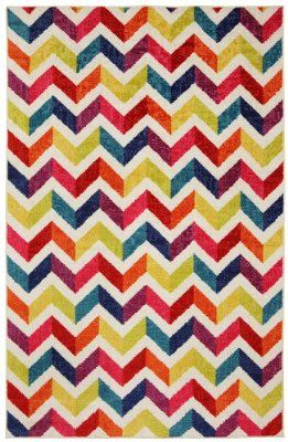 Mohawk Home Mixed Chevrons Pricm Area Rug, 60 by 96-Inch, Multicolored