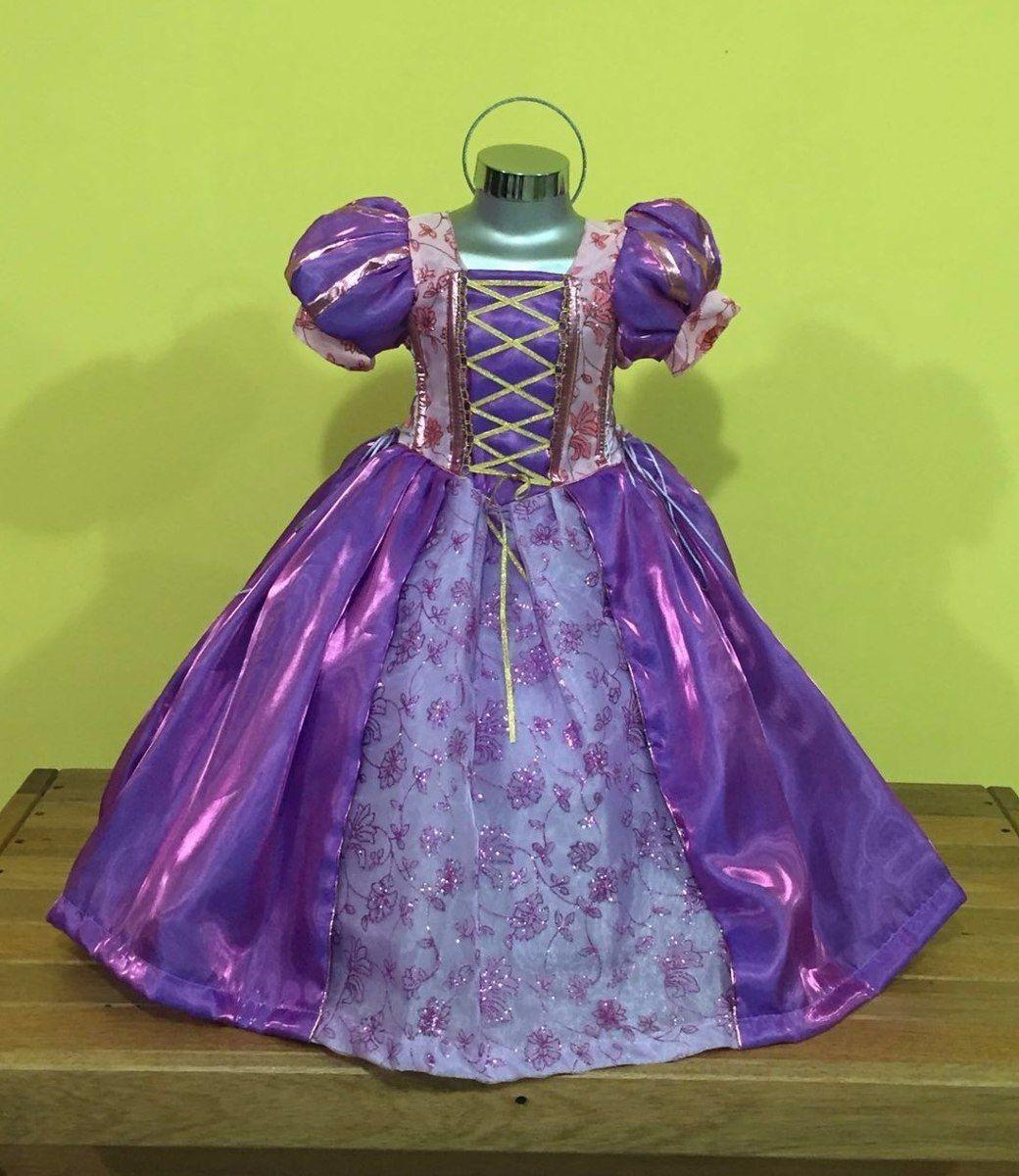 Vestido, Disfraz Paquete Princesas Rapunzel, Valiente, Elsa ...