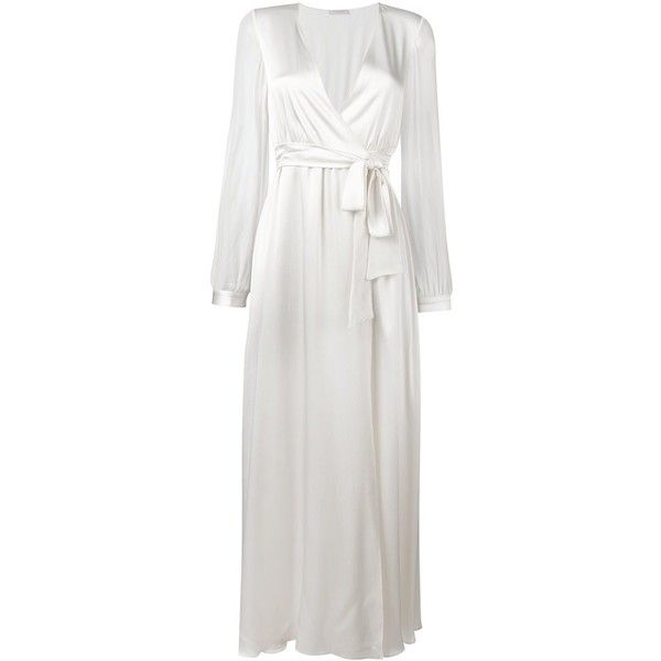 Gilda & Pearl cuff sleeve dressing gown ($559) ❤ liked on ...