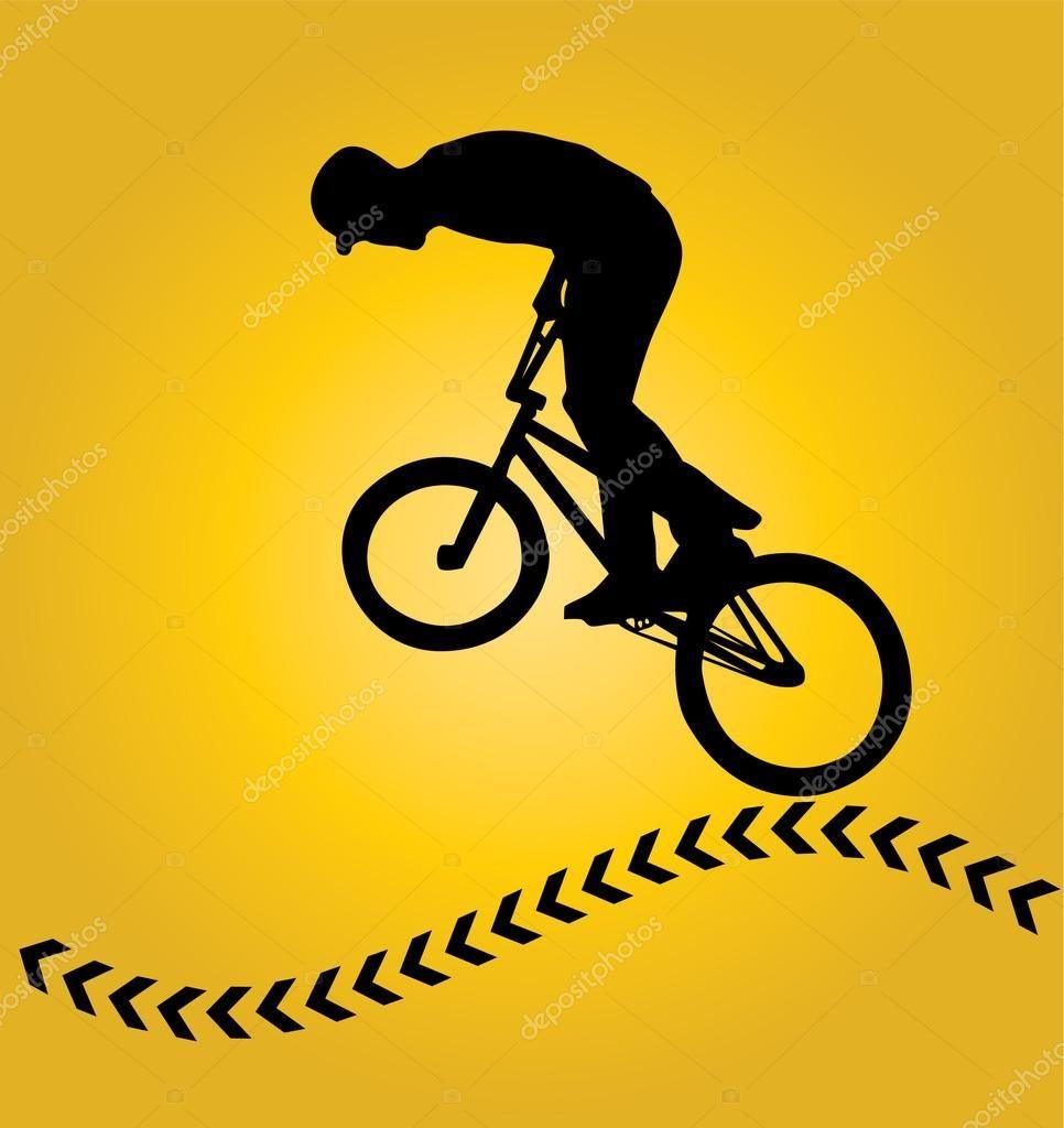 Resultado de imagen para silueta facil ciclista | Planos en seerie ...