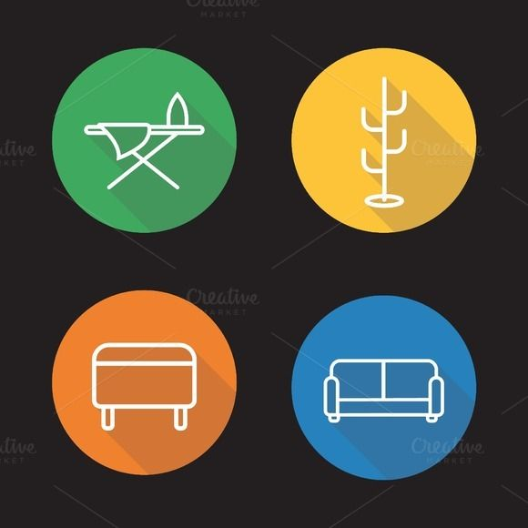 Furniture icons Vector Icons