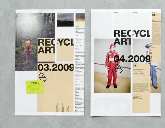 Interesting layout combining typography and shapes into this piece of neat editorial design.