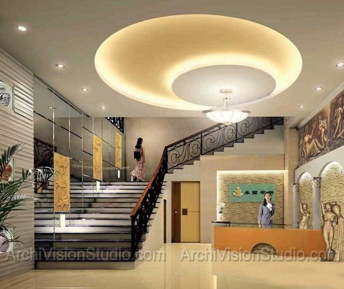 Beautiful Staircase Ceiling Design False Ceiling Design False | False Ceiling On Stairs | Residential | Pvc Panel Ceiling | Kitchen | Traditional | Living Room Hardiflex Ceiling