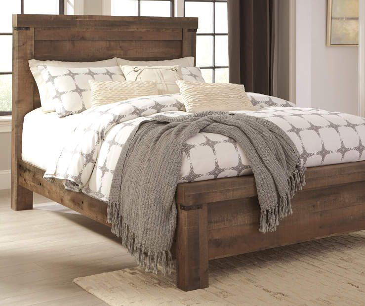Signature Design By Ashley Trinell Panel Queen Bed King Bedroom