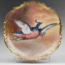Limoges Hand Painted Game Bird Charger or Plate