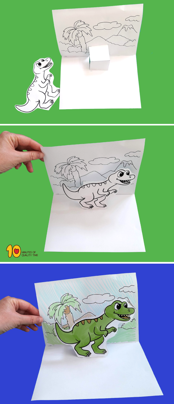 T Rex Pop Up Template Pop Up Cards Kids Pop Easy Arts And Crafts