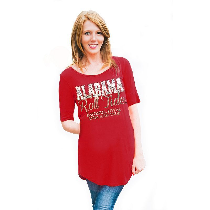 Women's Gameday Couture Alabama Crimson Tide Slogan Slouchy Tee