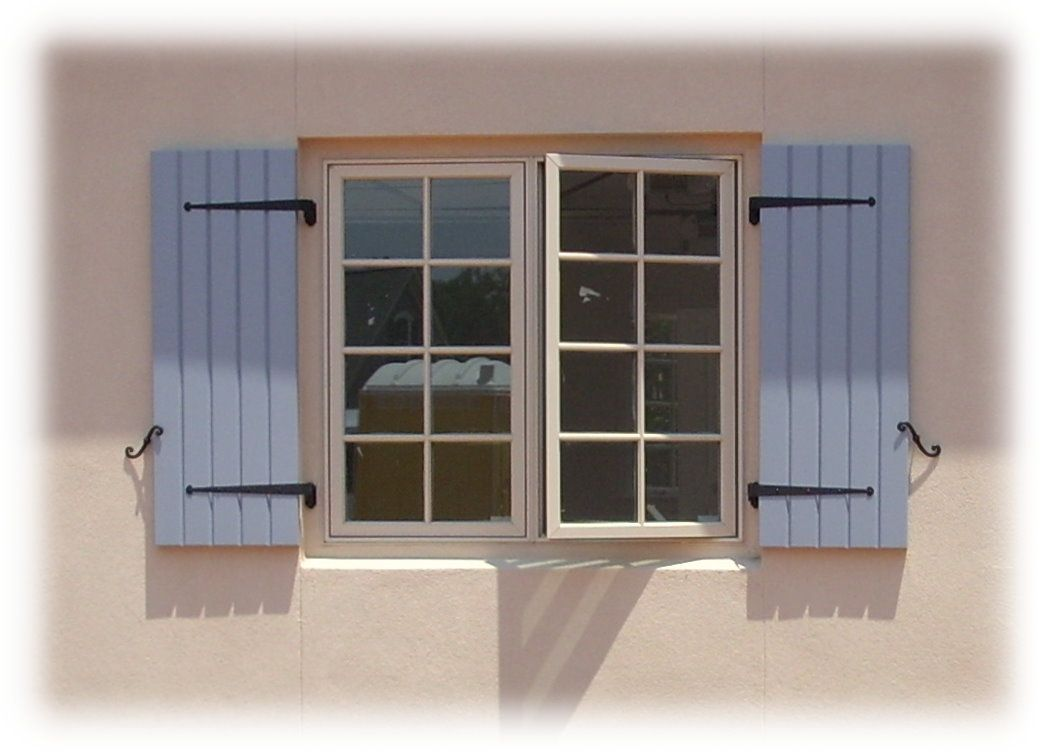 exterior shutters are often made up of individual components description from - Shutter Hardware
