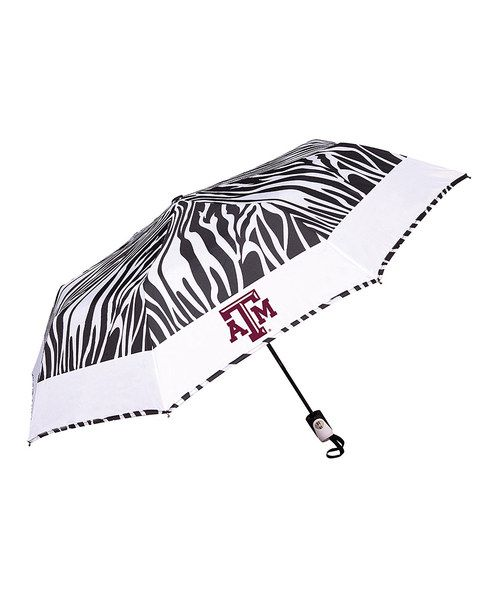 Take a look at the Texas A&M Aggies Zebra Umbrella on #zulily today!