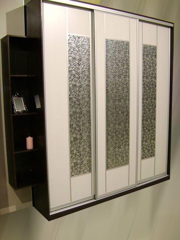 шкафы купе со вставками из искусственной кожи сибу Floral