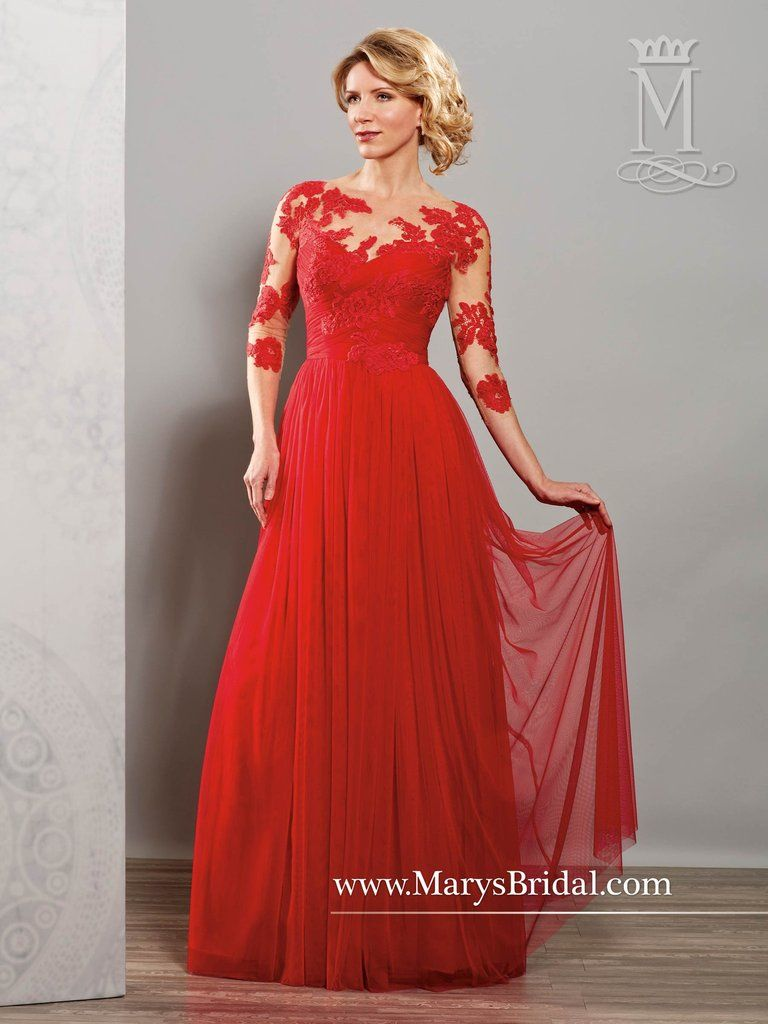 Tulle Romantic Gown with Lace Sleeves