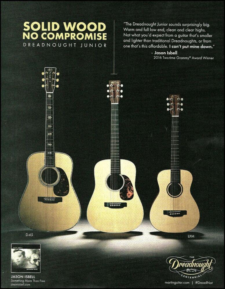 Jason Isbell Martin Dreadnought Junior D Jr E D 45 Lxm Acoustic Guitar Ad Print Ebay Martin Guitar Guitar Jason Isbell