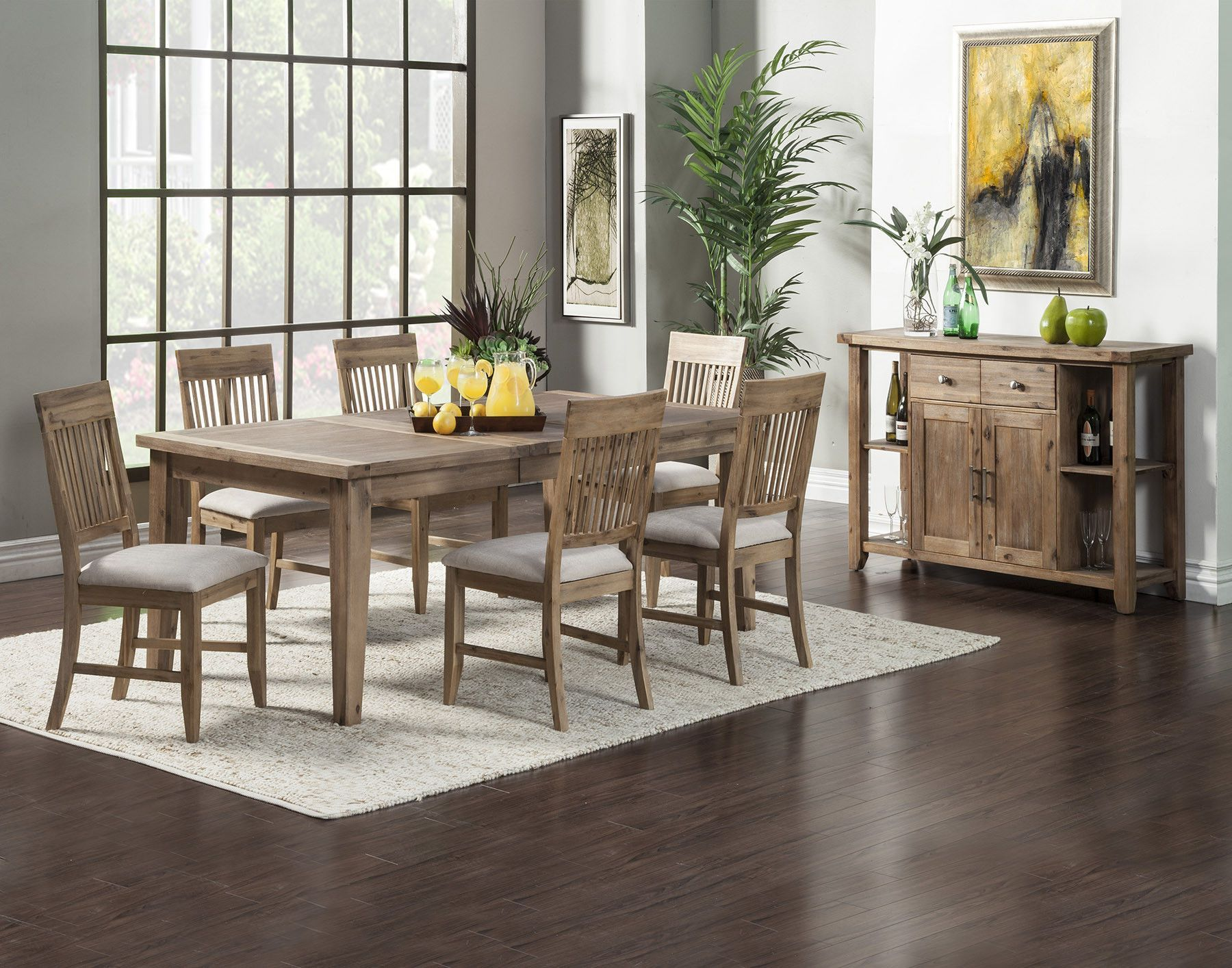 Alpine Aspen Extension Dining Table With Butterfly Leaf Butterfly Leaf Iron Brush Antique Natural Finish Ac Alpine Furniture Dining Table In Kitchen Furniture