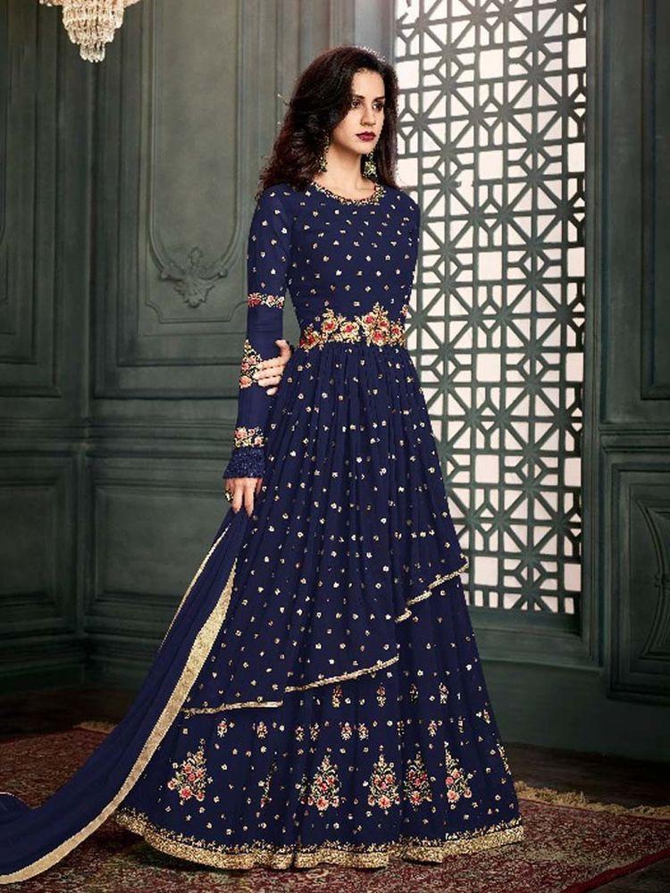 b448d88a07c  Designer  Anarkali  Salwar  Kameez  Indian  Pakistani  Latest  Party wear  Suit  Fabric  HandMade