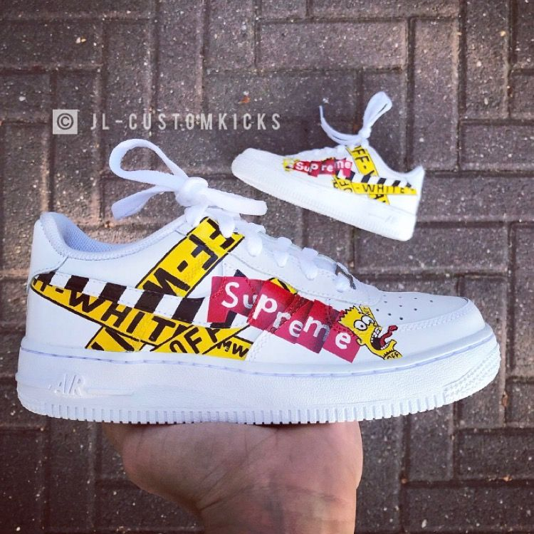 Full Custom Off White Supreme Custom By Joeledies For More Content Follow Me On Instagram Joeledies Off White Schuhe Nike Schuhe Schuhe