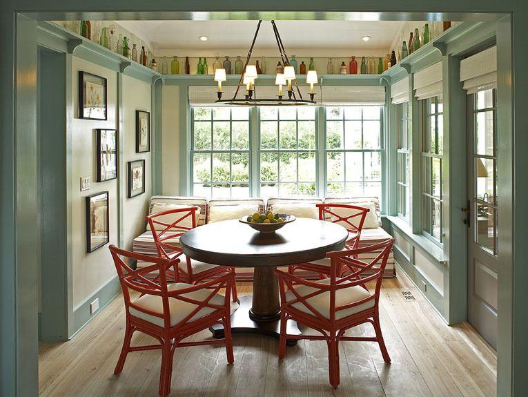 Historical Concepts Steven Gambrel Dining Room Display Rail Around Ceiling Aqua