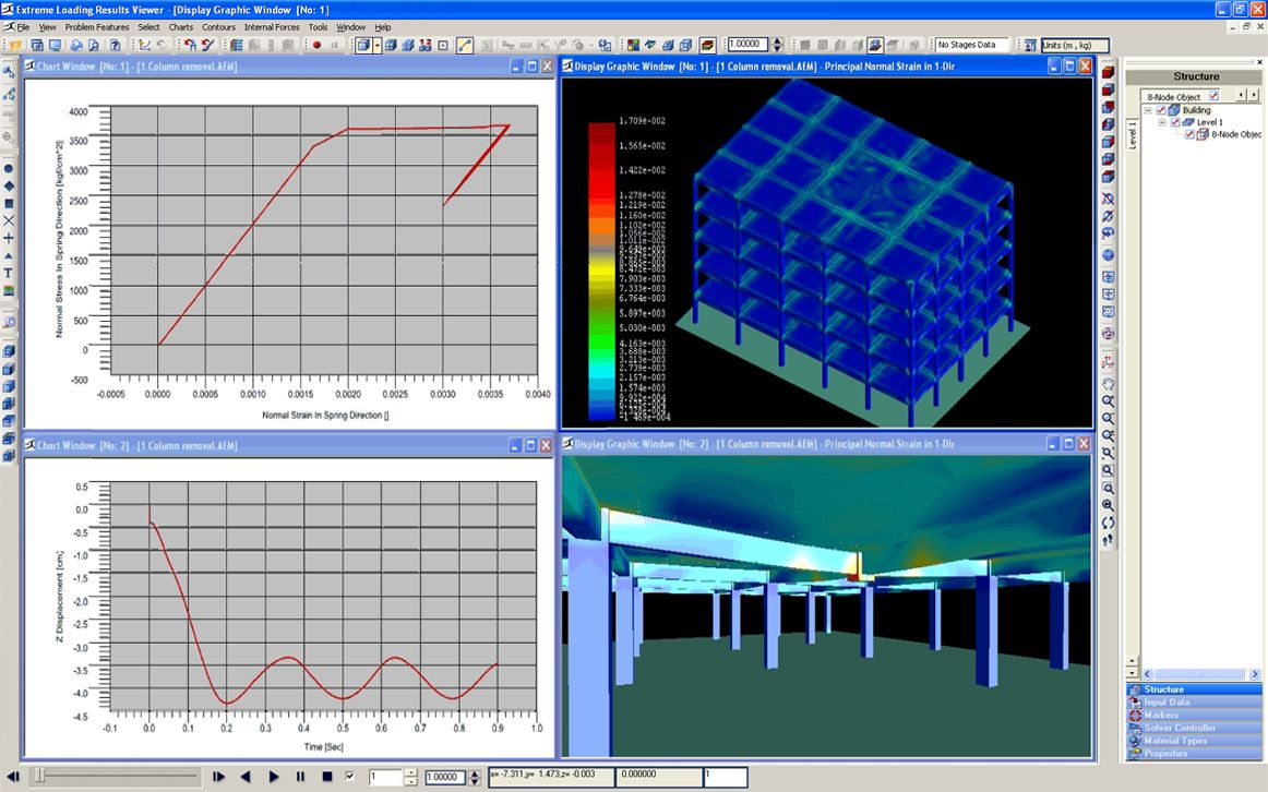 Extreme Loading For Structure Software Design Structural Software For The Analysis And Design Of Build With Images Building Systems Structural Analysis Reinforced Concrete