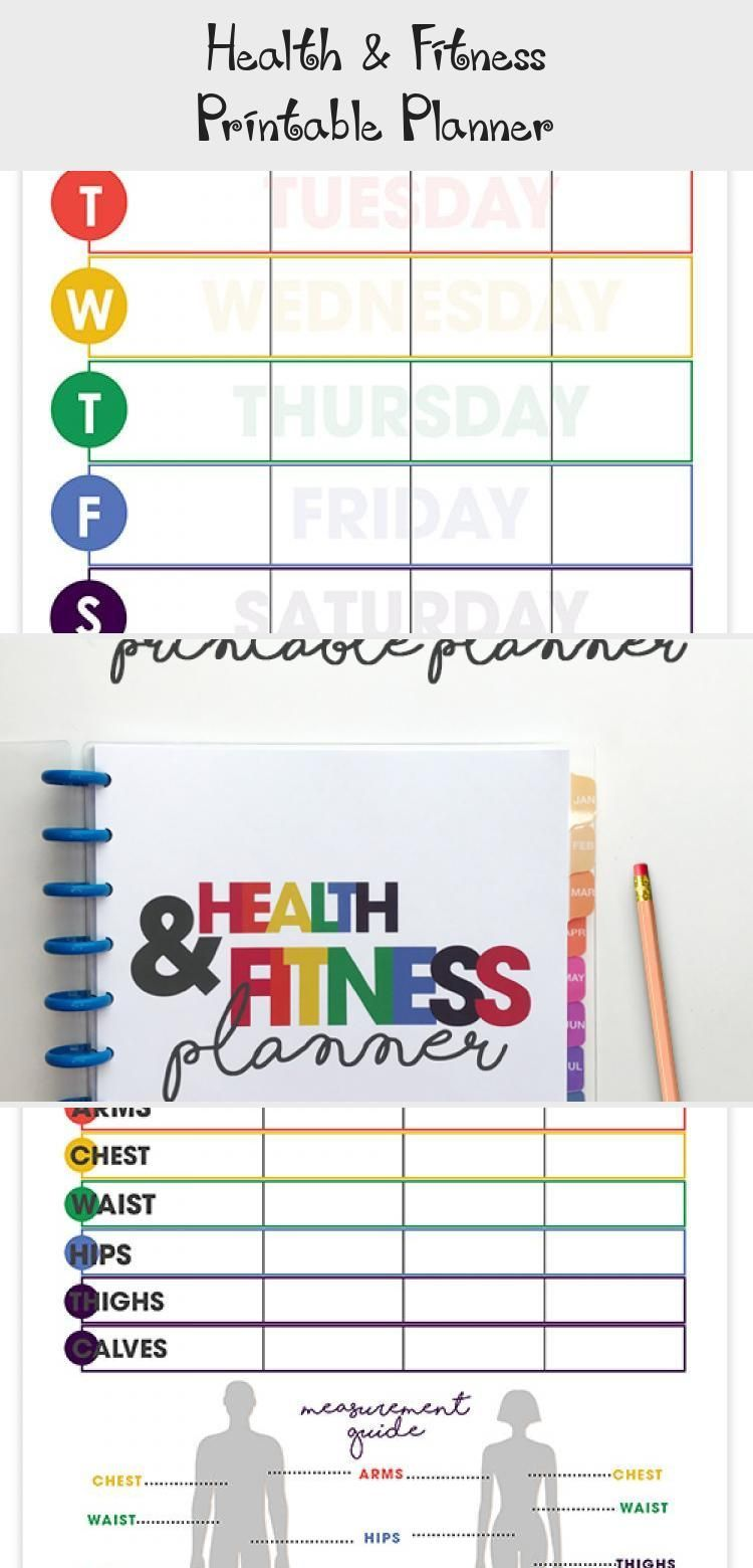 Health & Fitness Printable Planner - Health | DcHouzz.com -  health & fitness planner | printable |...