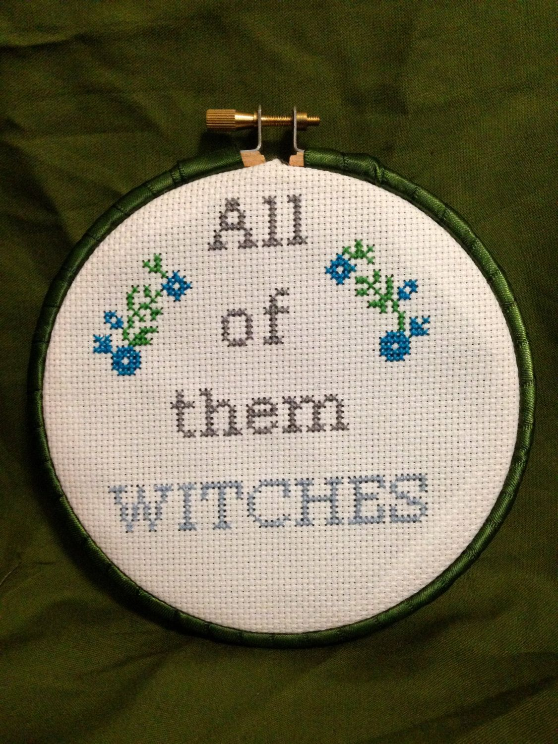 Rosemary\'s Baby framed cross stitched wall decor by CinemaStitches ...