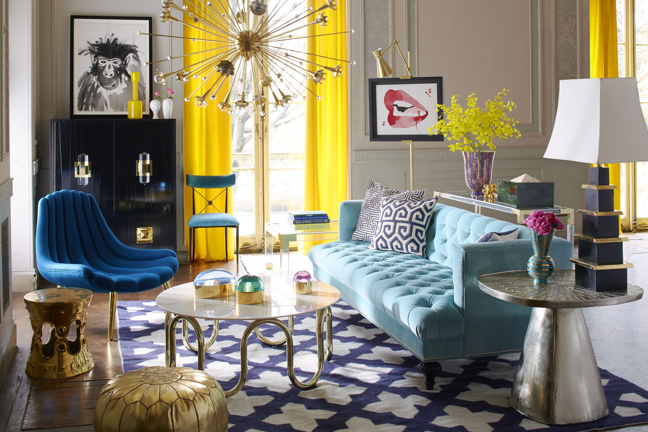 Best Look To Jonathan Adler To Luxe Up Your Living Room Chic Living Room House Interior 640 x 480