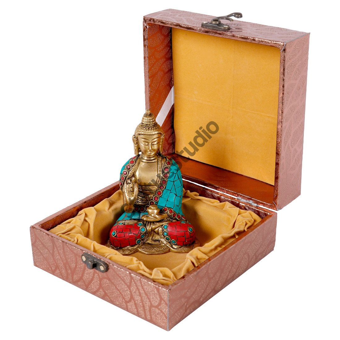 Statuestudio Mini Inlay Buddha Corporate Wedding Gift Dcor Statue