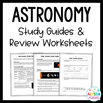 Astronomy Study Guide and Review Worksheet (SOL 4.7 & SOL