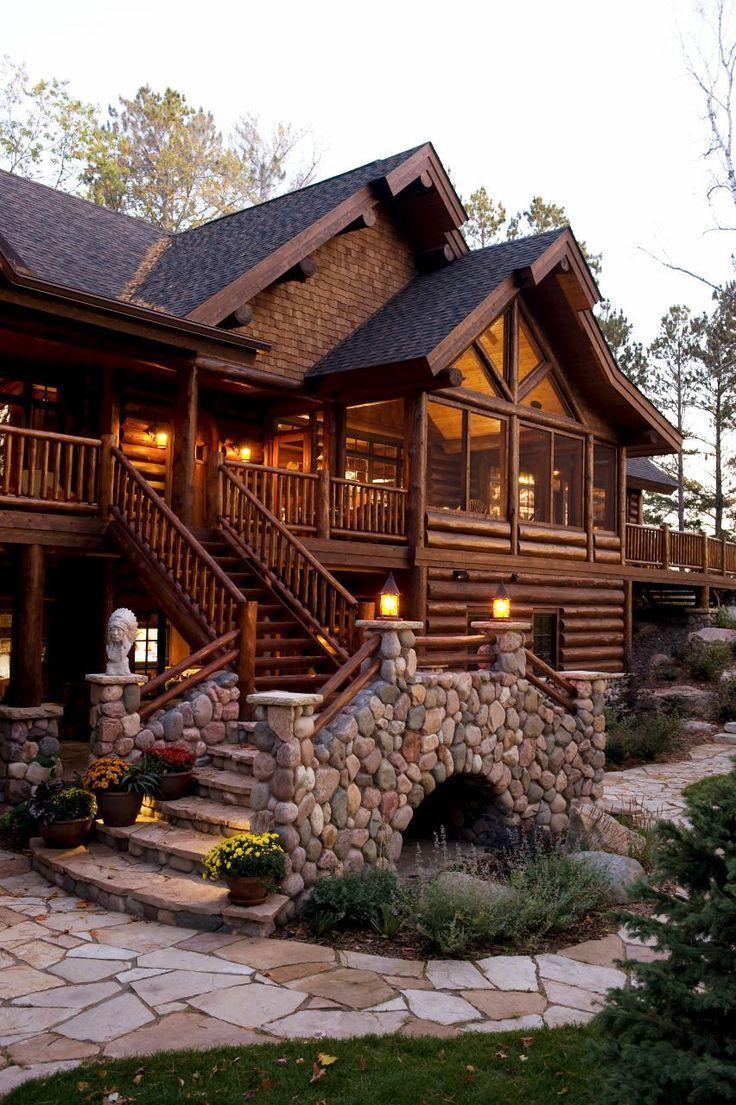 Cartera de proyectos para una casa de troncos completada por Spider Lake Trading Forme ..., ...