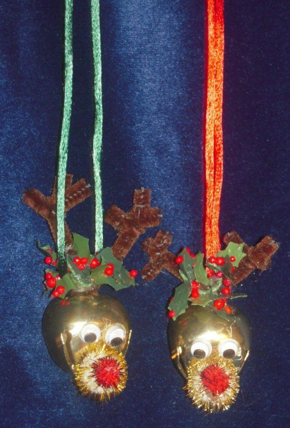 jingle bell craft ideas jingle bell necklace reindeer by santashelpers on etsy 4777