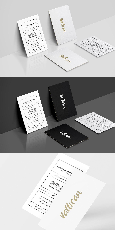 Vattican Business Card Template Adobe Photoshop Minimal Clean Business Card Template Business Card Template Design Business Cards