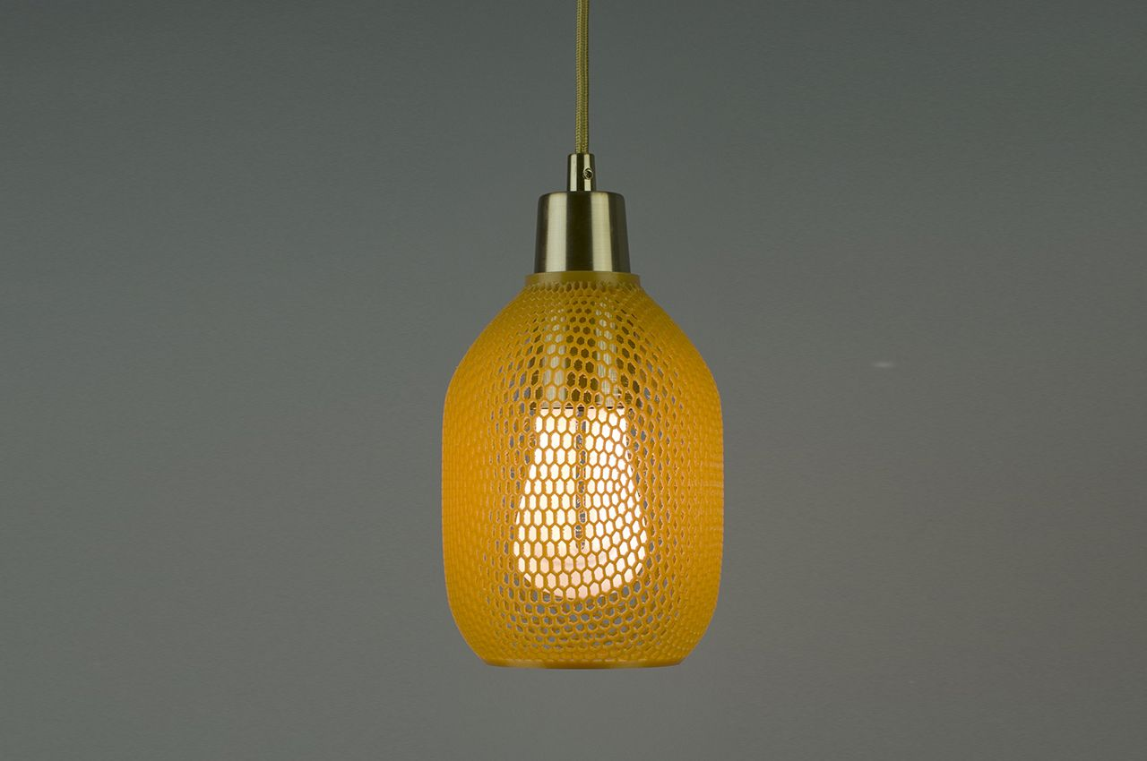 Hive A Biodegradable 3d Printed Shade By Plumen Biodegradable Products Plumen Design Milk