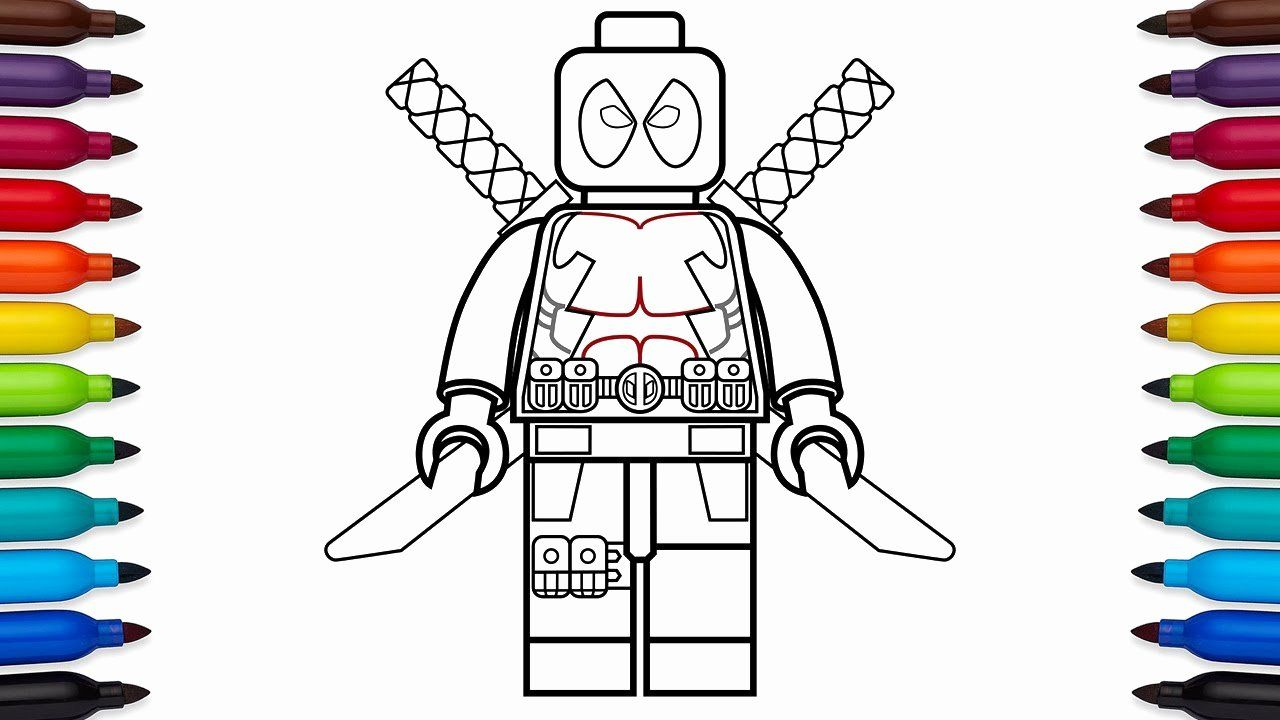 Super Heroes Coloring Page Fresh How To Draw Lego Deadpool Marvel Superheroes Coloring Pages Marvel Coloring Superhero Coloring Superhero Coloring Pages
