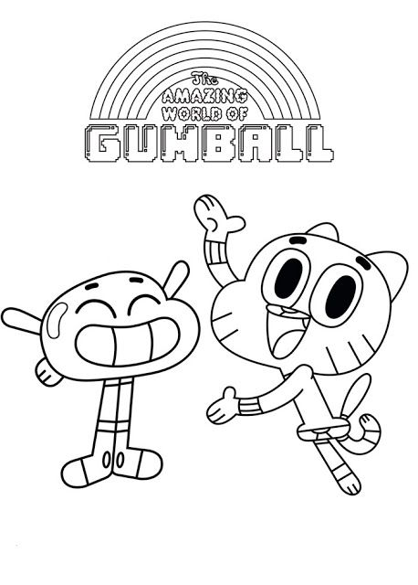 The Amazing World Of Gumball Coloring Page World Of Gumball The Amazing World Of Gumball Gumball