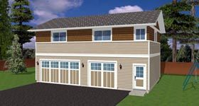 Garage Plan 90881 Elevation