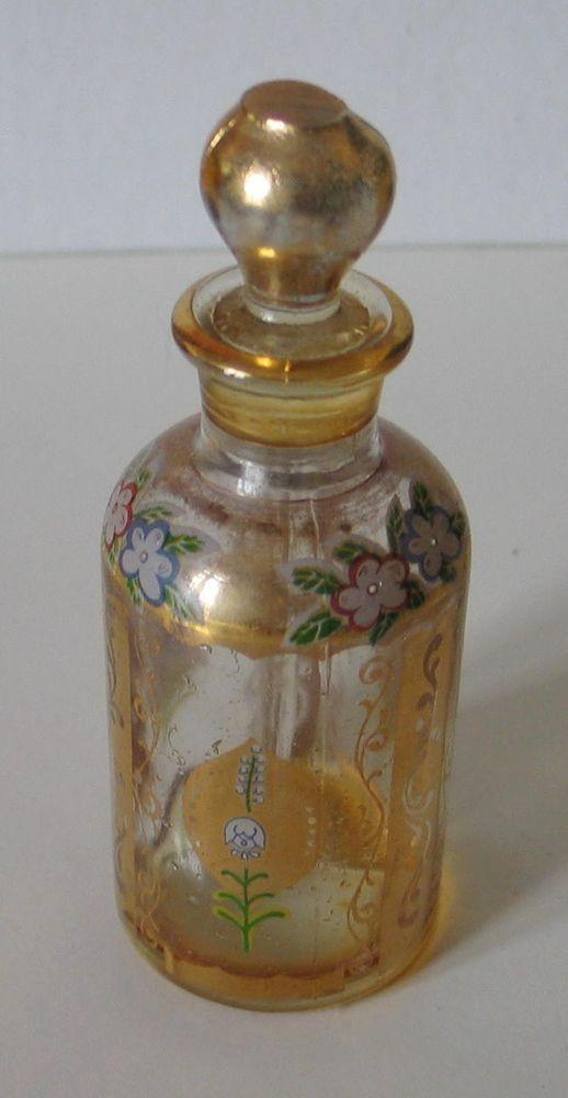 Venise Parfum Murano Verre Émaillé Ancien Décor Vénitien Flacon GUqzpVSM