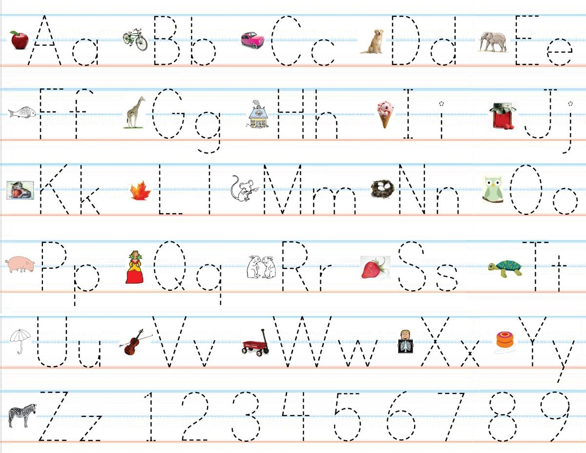 Cursive Alphabet Chart With Arrows Lowercase