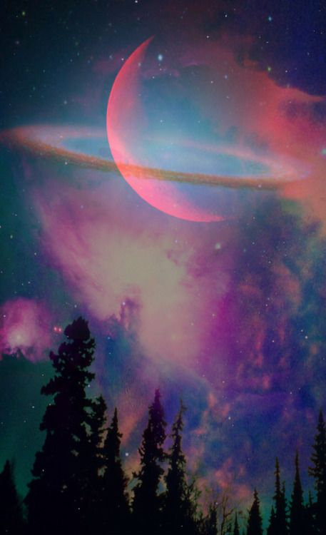 astronomy, outer space, space, universe, scenery, stars, nebulas, trees, planets